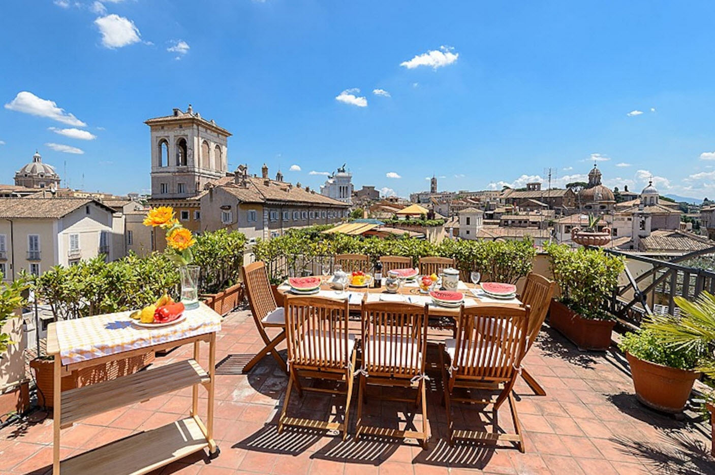 Appartement 8 personnes et terrasse centre de Rome