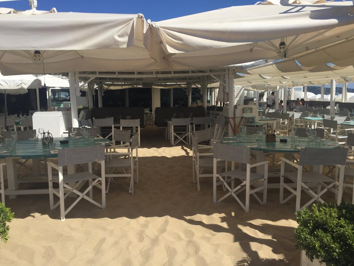 Restaurant et plage privee Ramatuelle Cabane Bambou