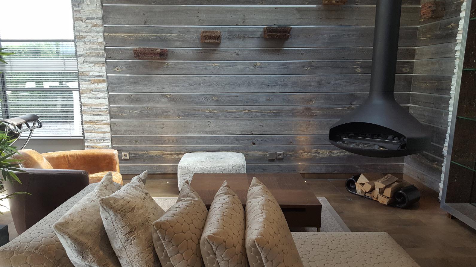 Coin zen avec cheminee