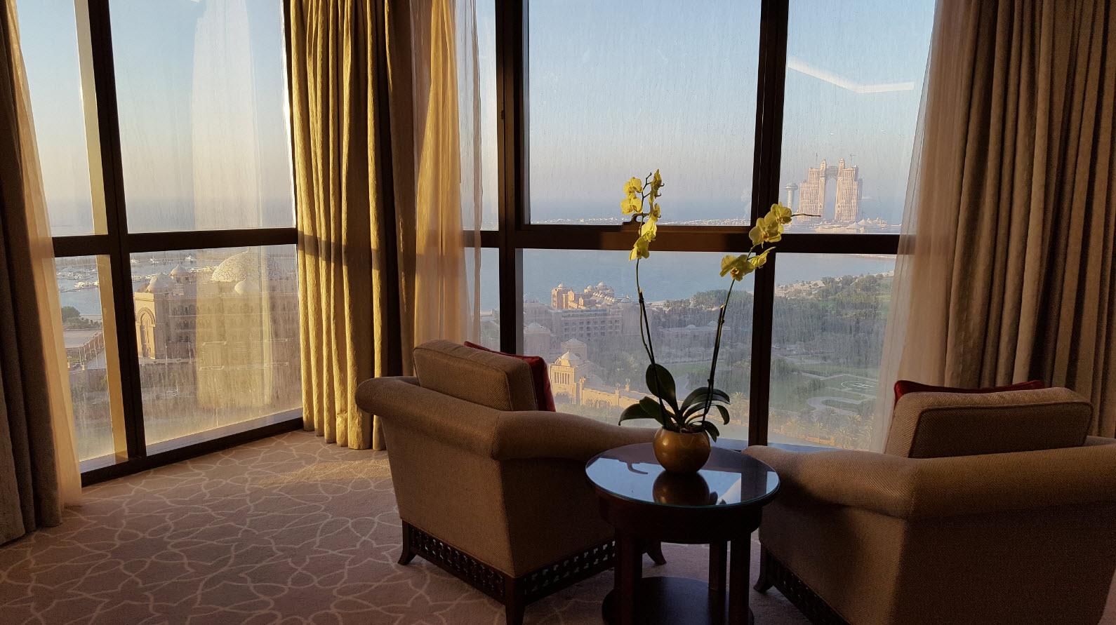 Vue sur les Palais Abu Dhabi