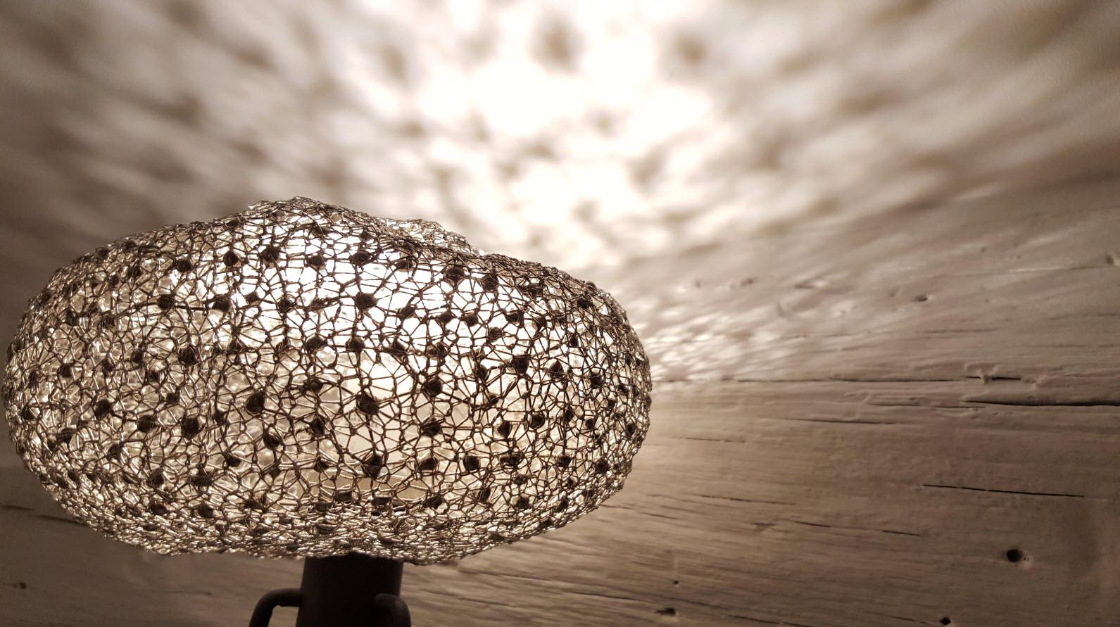 Detail lampe dentelle