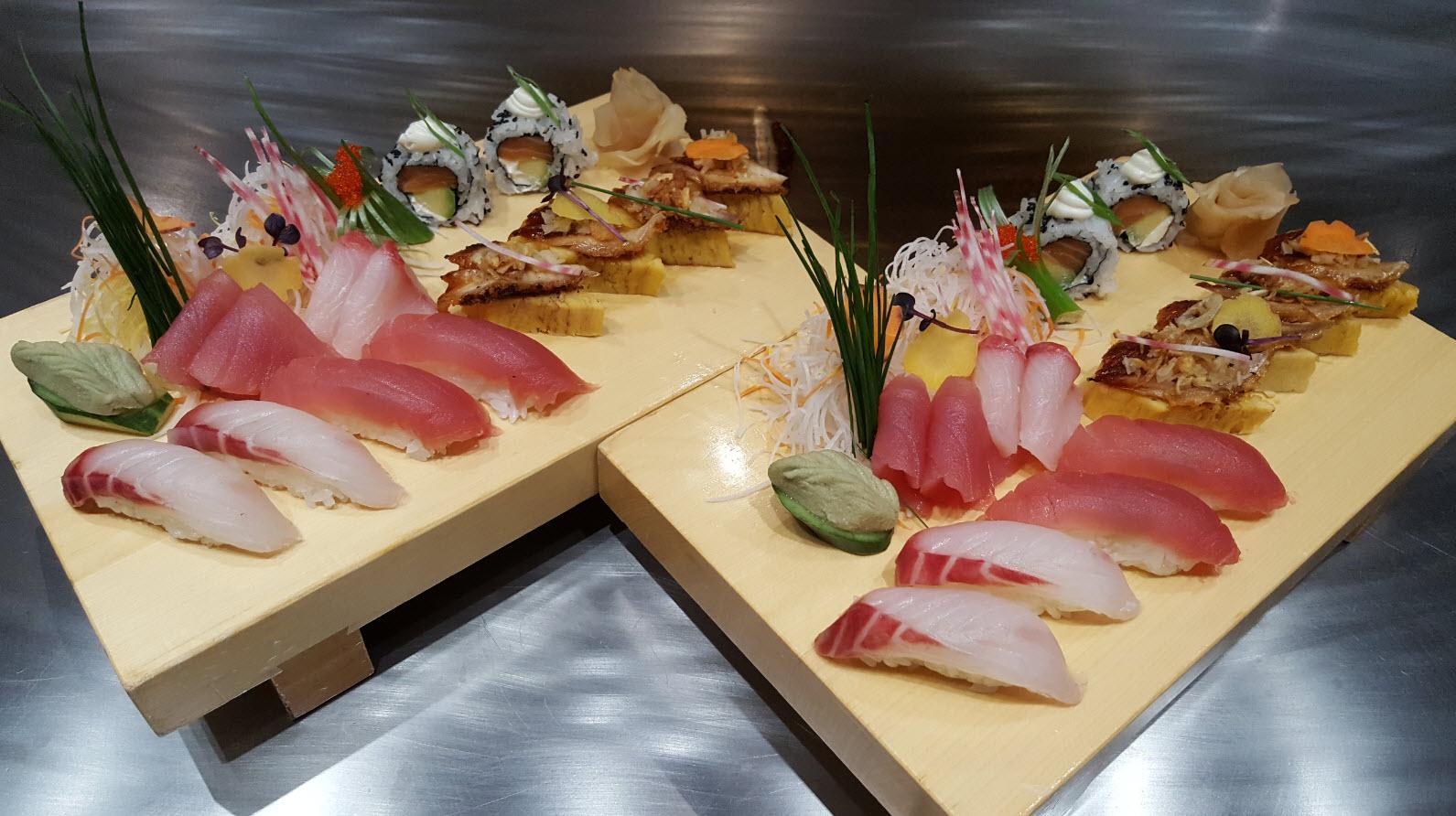 Plateaux de sushis
