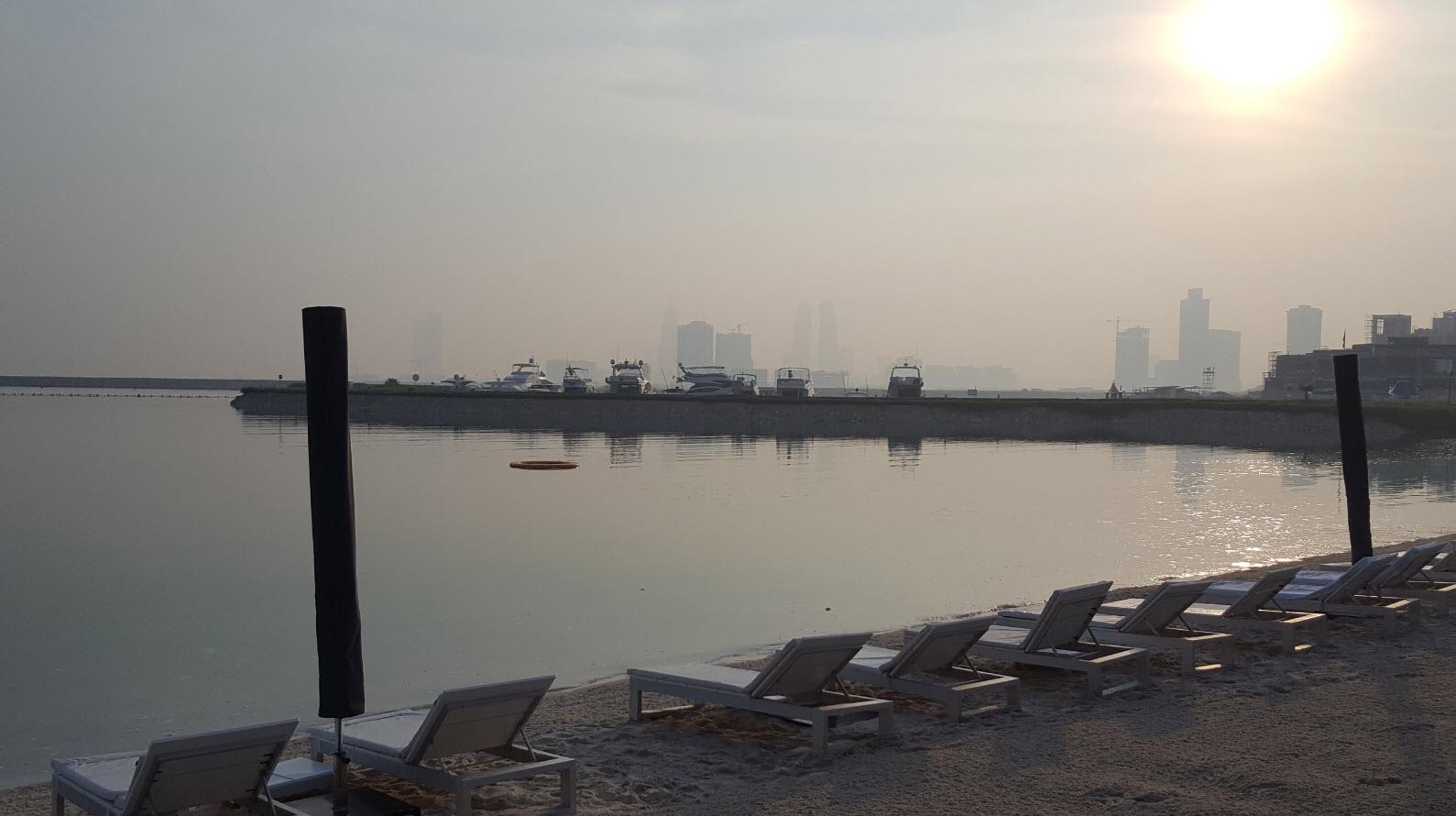 Marina et plage de l'hotel