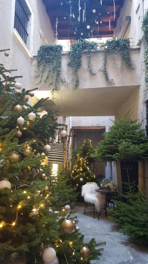 Decoration de Noel dans la cour