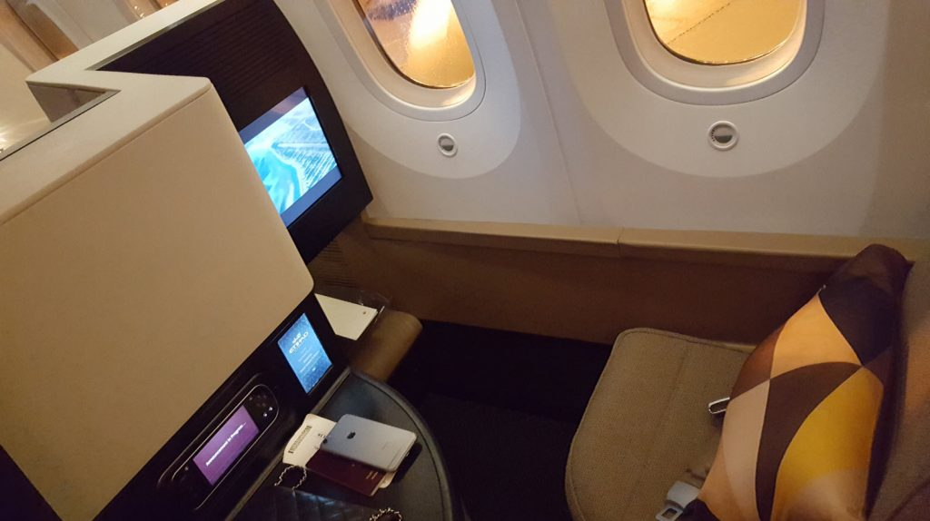 Business Class Etihad Dreamliner