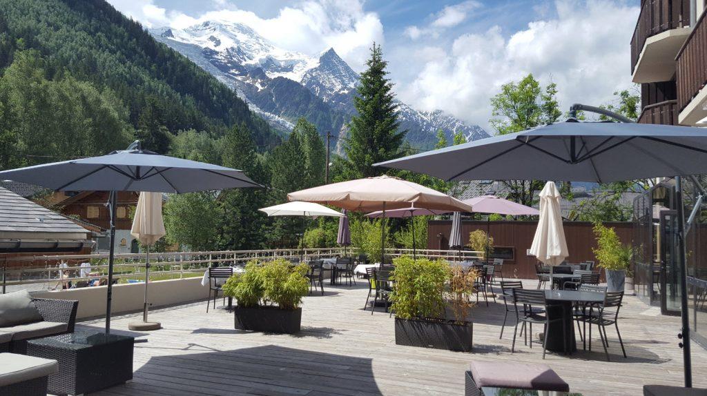 Hotel avec vue sur le Mont-Blanc Chamonix