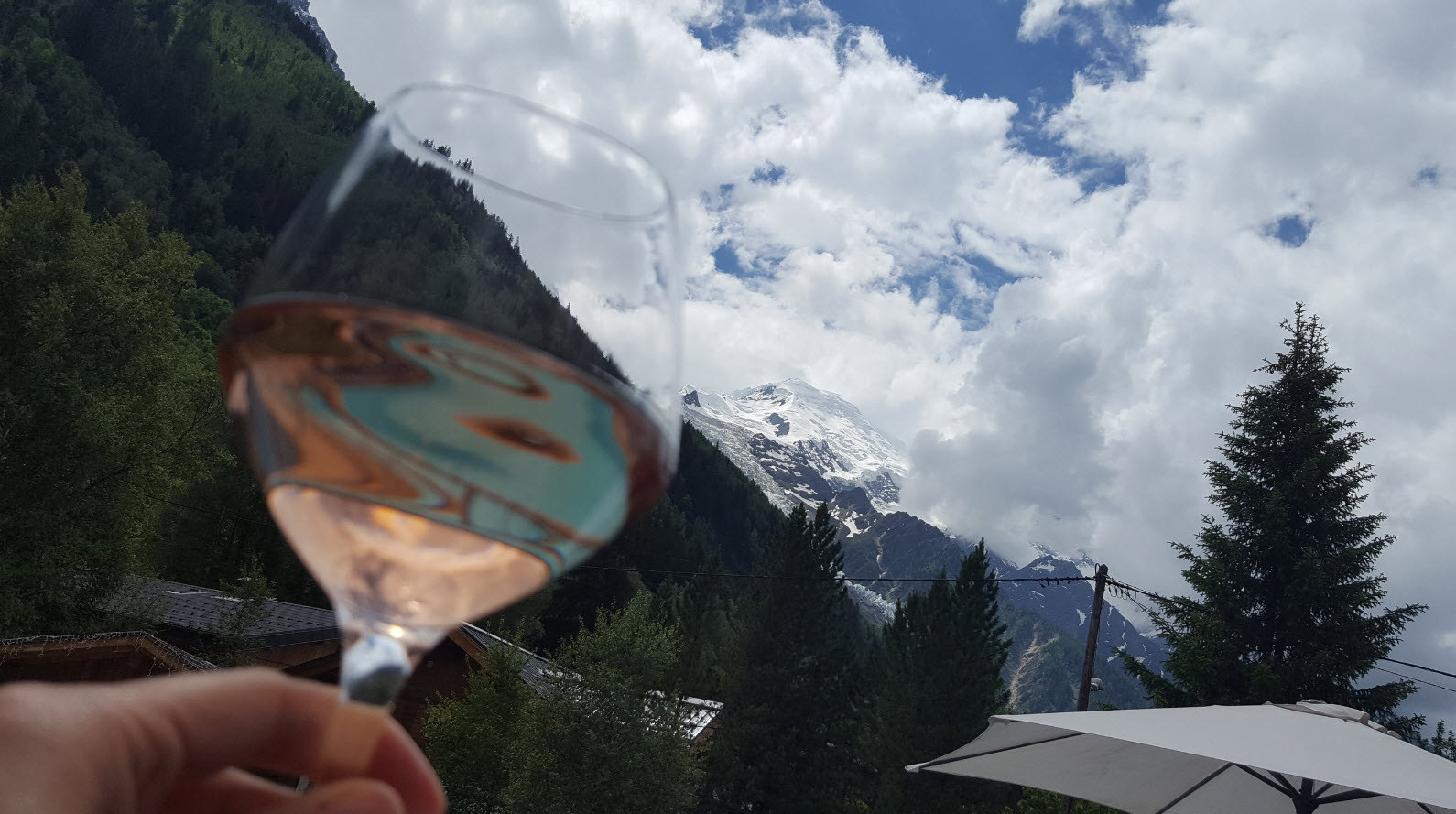... with the Mont-Blanc