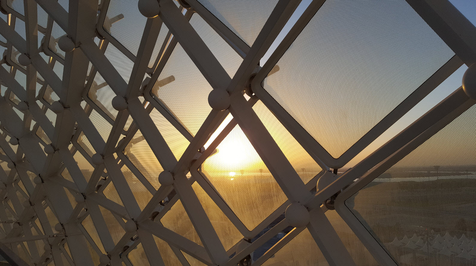 Coucher de soleil depuis le rooftop