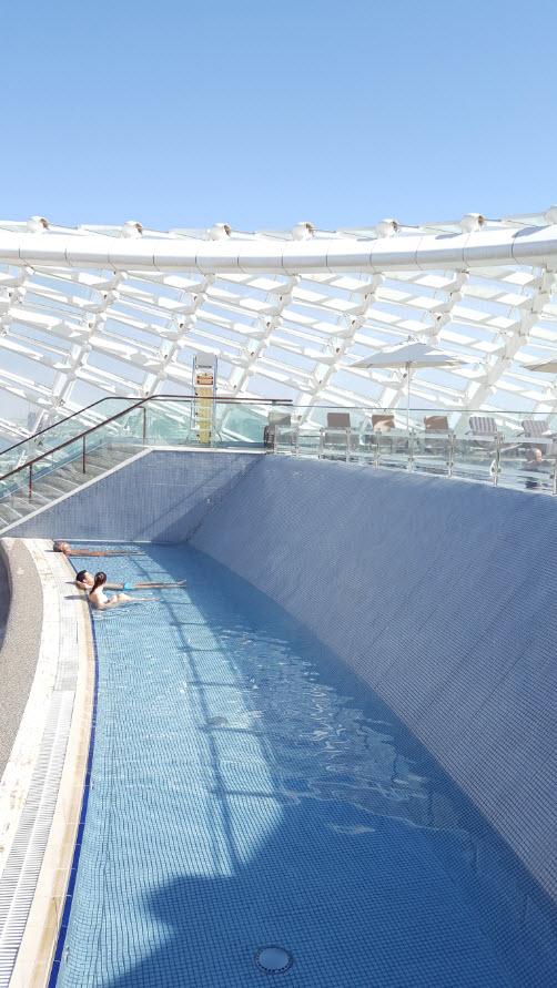 Partie basse piscine