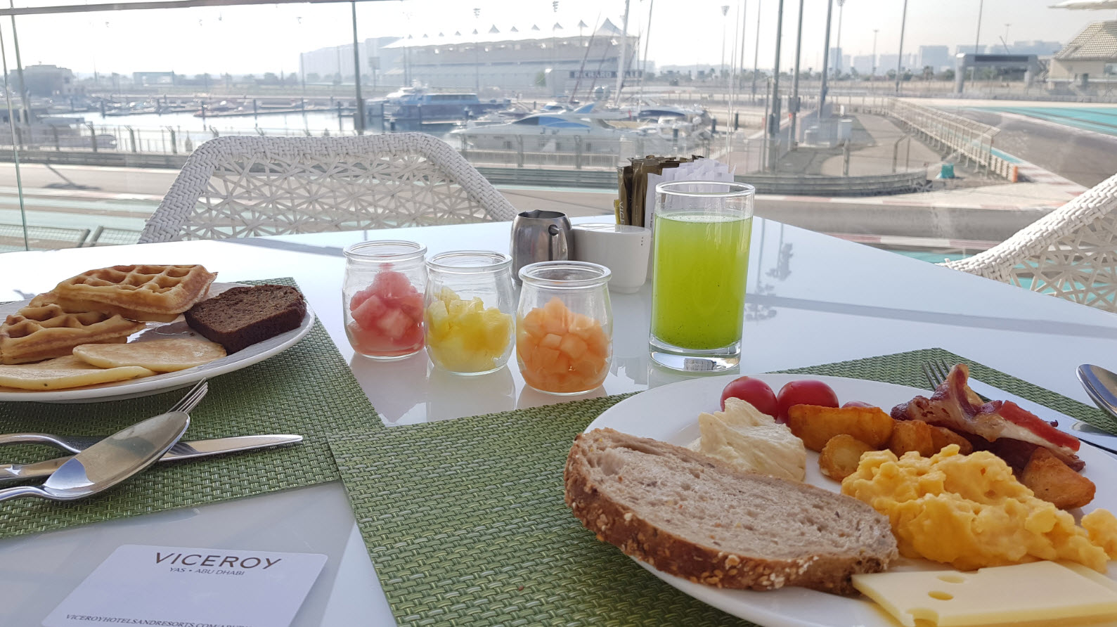 Breakfast circuit F1 view
