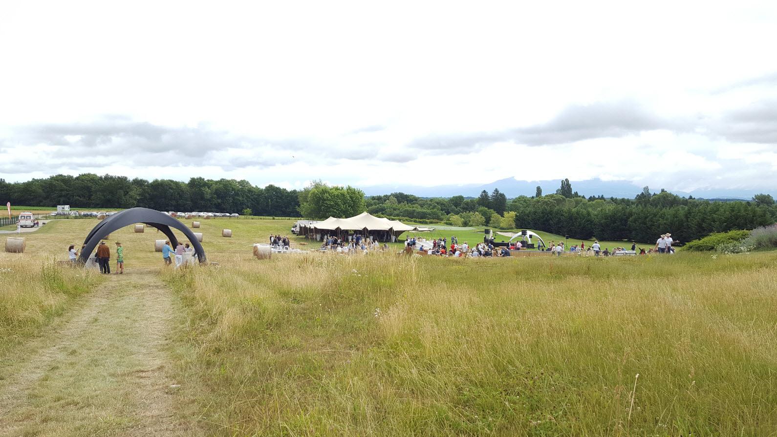 Au milieu des champs