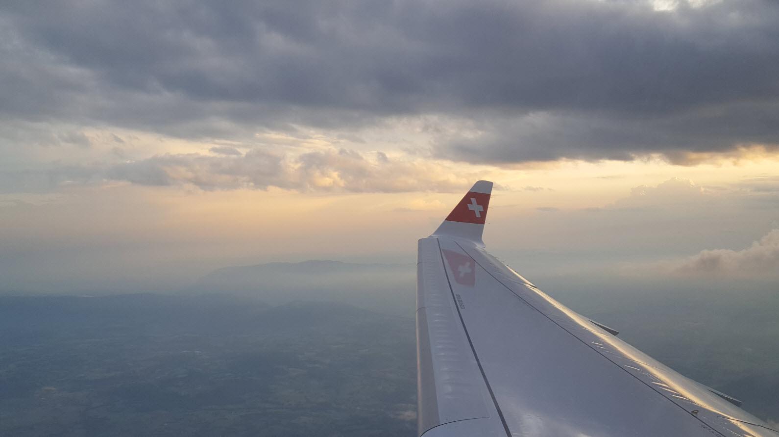 Vol au coucher du soleil