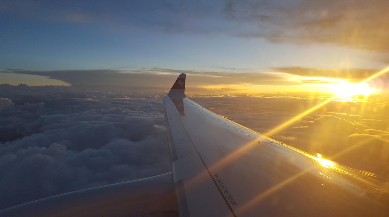 Coucher de soleil avion