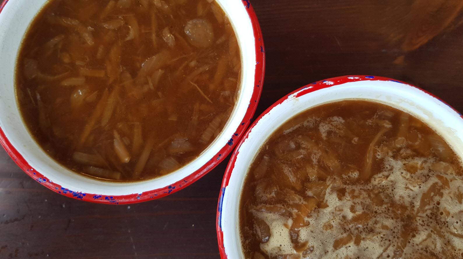 Soupe oignon