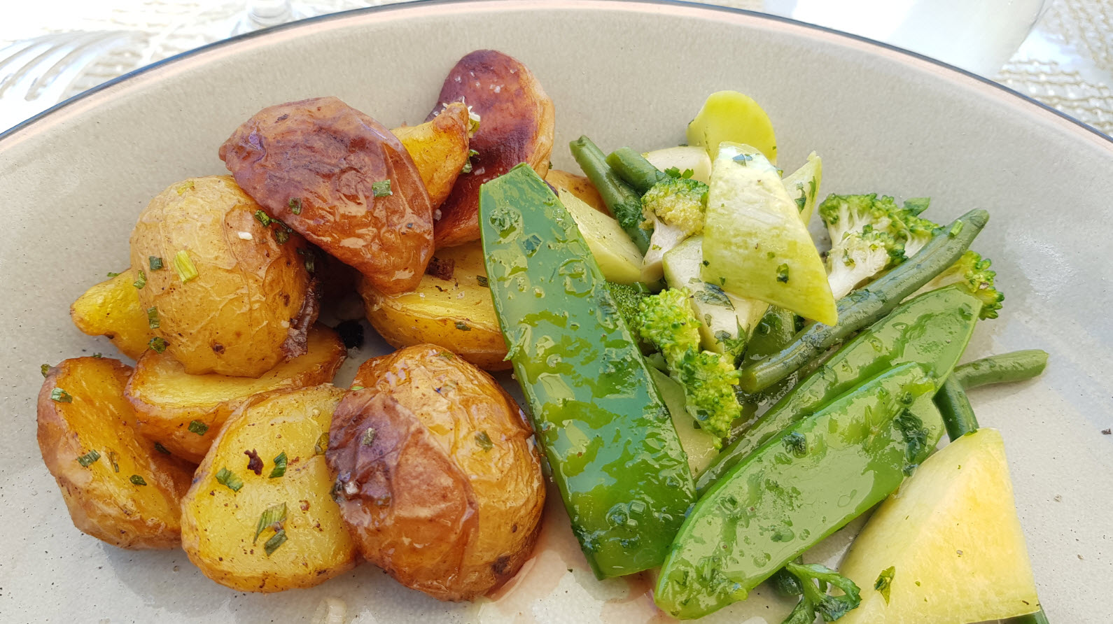 Legumes verts et pommes de terre
