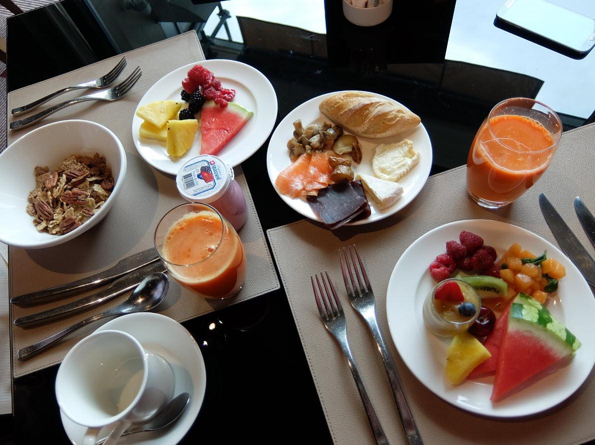 Petit dejeuner Mandarin Oriental Geneve