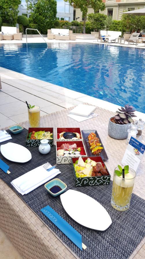 Dejeuner piscine President Wilson Geneve