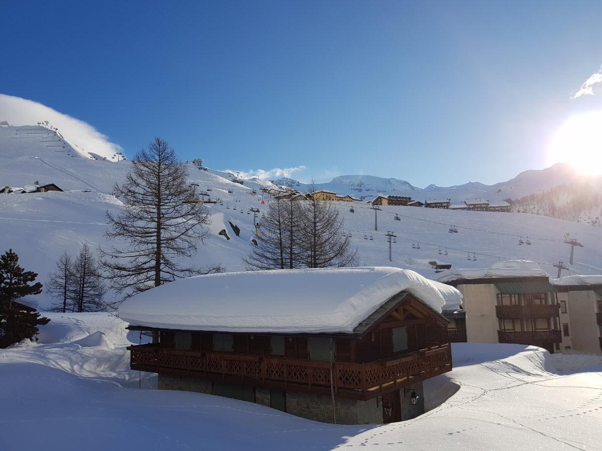 Station de ski de Cervinia, Aoste, au pied du Cervin