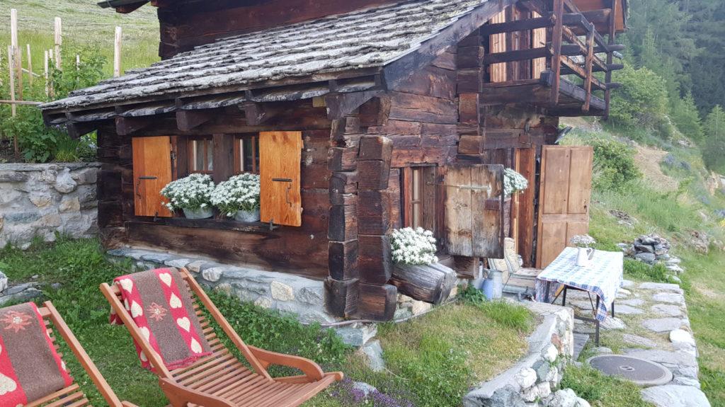 Sejour dans un mayen en Suisse