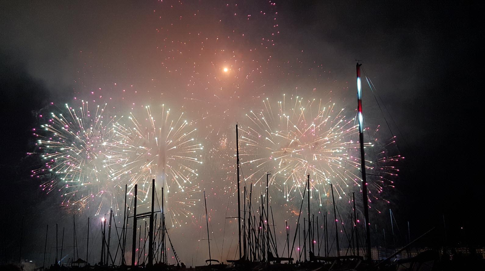 Spectacle pyrotechnique lac leman Genève