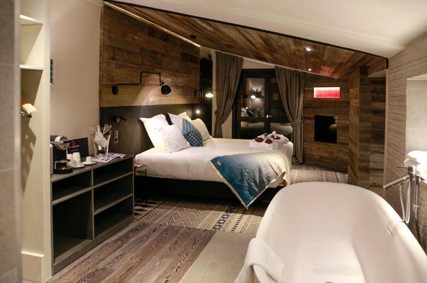 Le Prieuré Chamonix Chambre avec cheminee