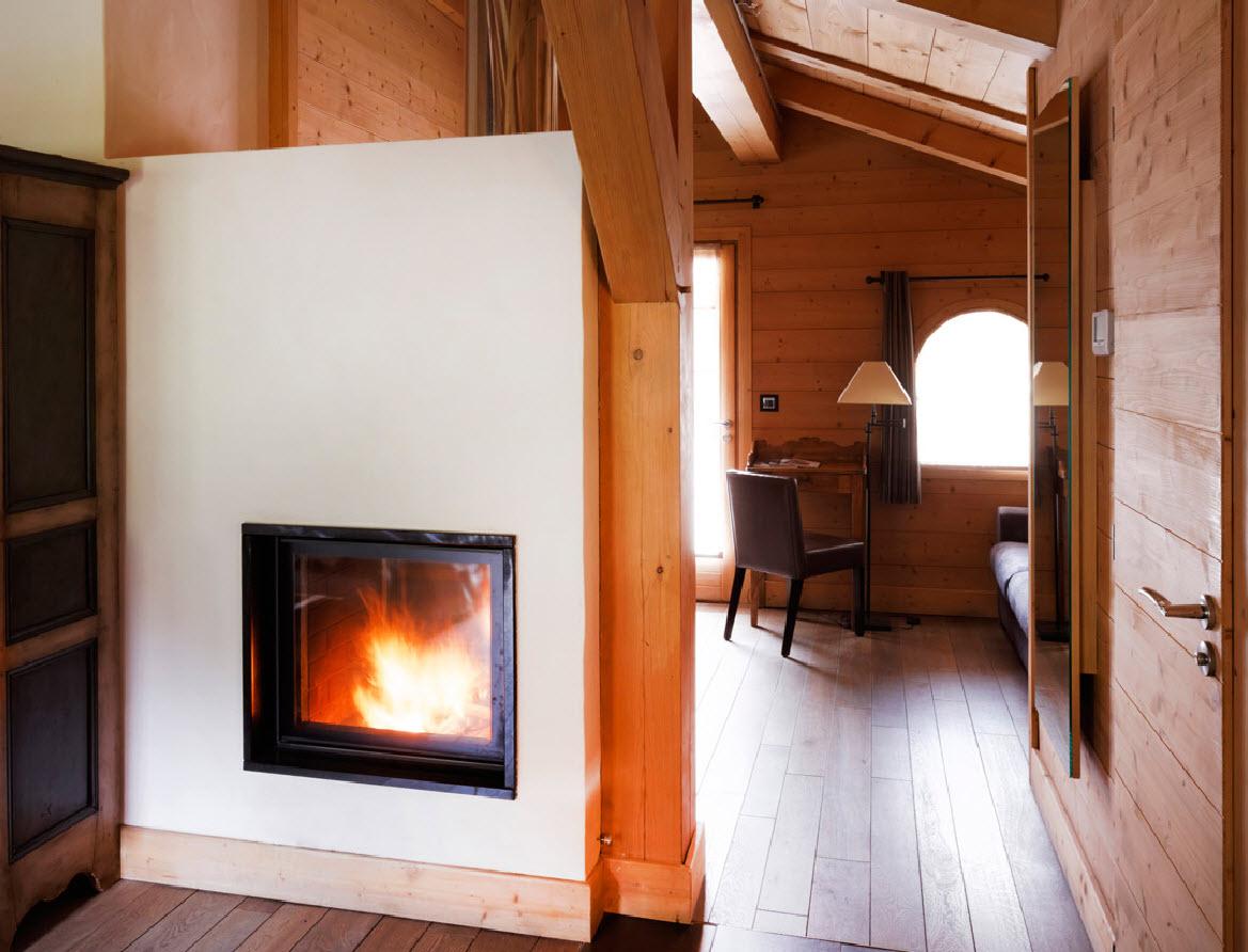 Flocons de Sel chambre avec cheminee