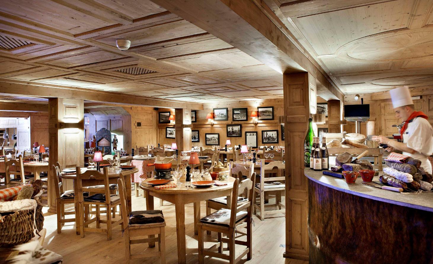 Manger Megève - Restaurant alpin Fermes Marie (c) L. Di Orio, MPM, T. Shu & DR