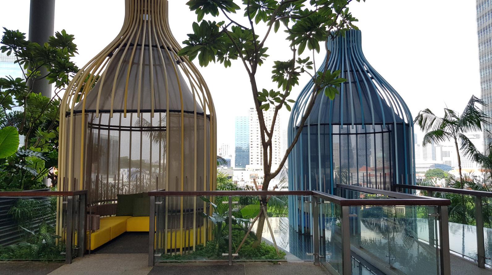 Piscine et hanging garden