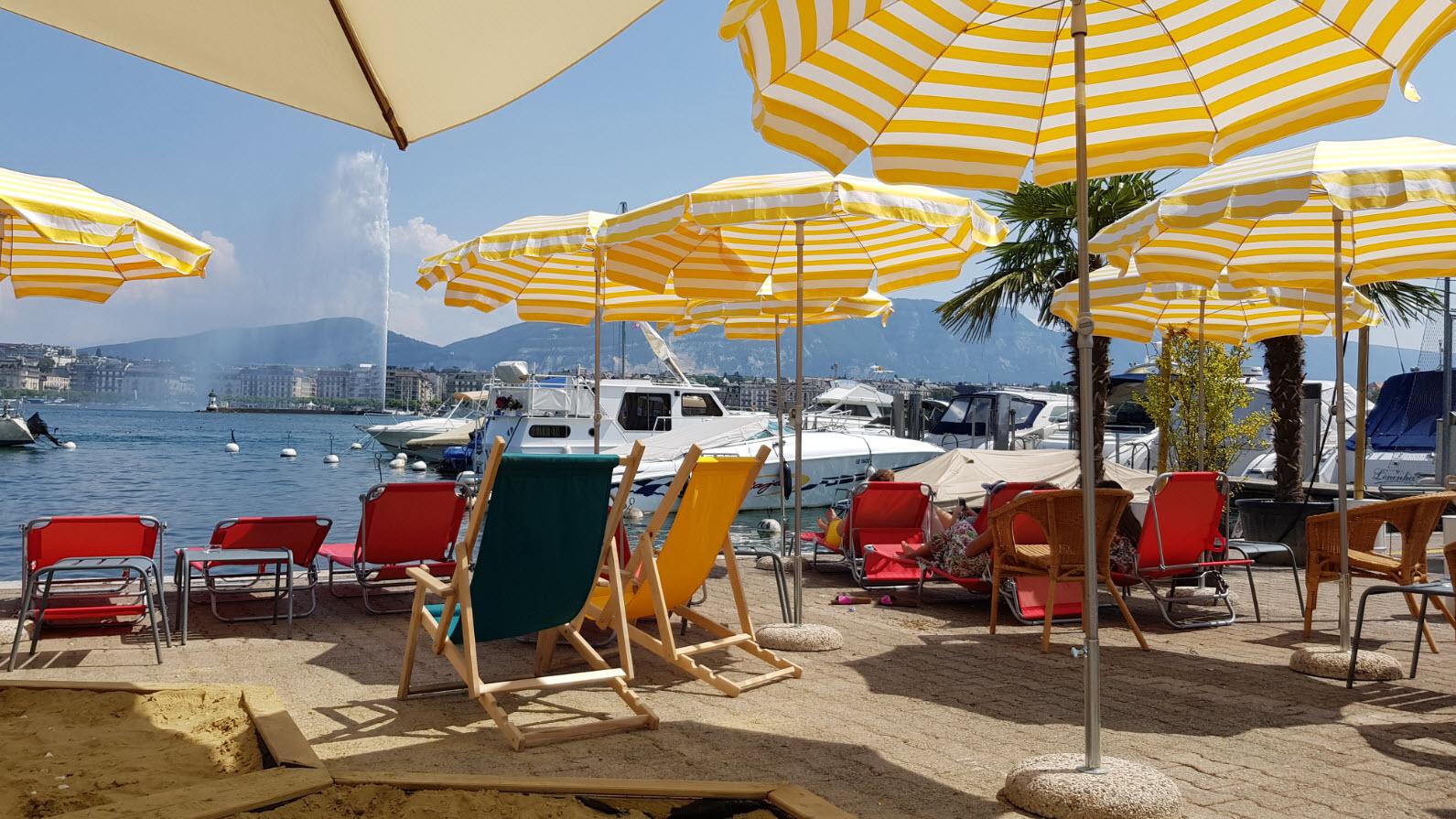 Buvette Geneve bord lac