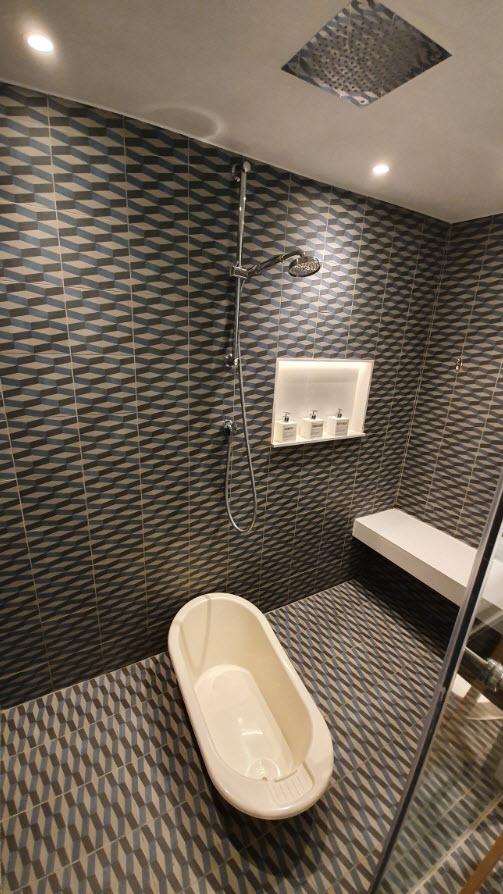 Salle de douche enfants