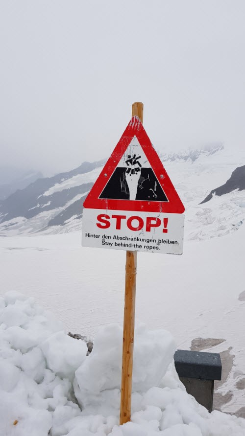 A faire en haut de la Jungfrau Top of Europe