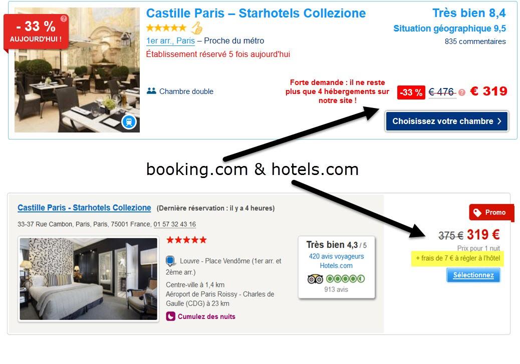 reservation hôtel pour 3 heures