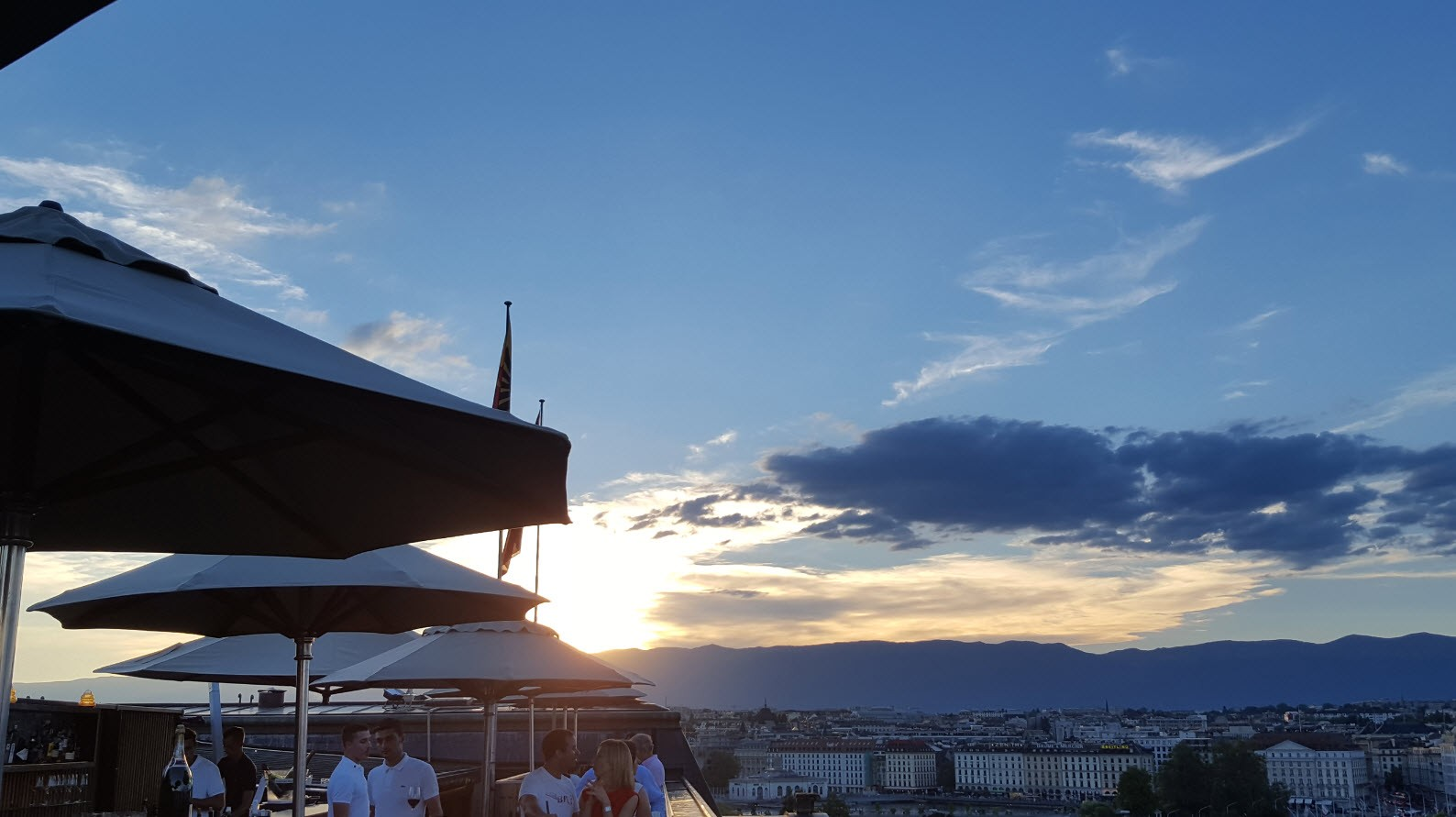 Sunset rooftop Geneve