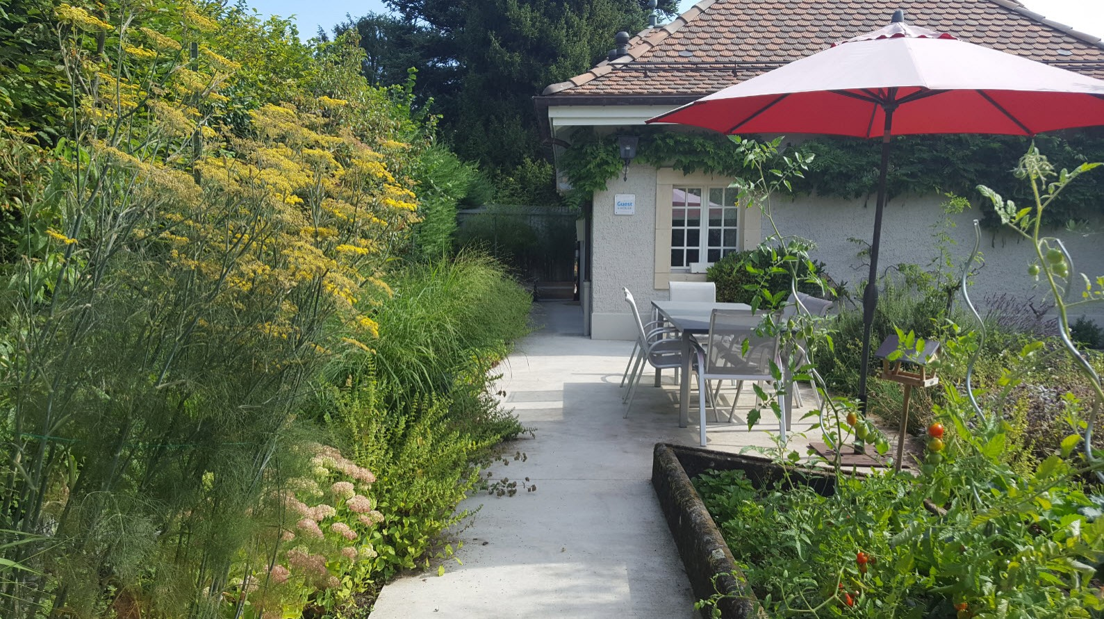 Jardin bed and breakfast Suisse