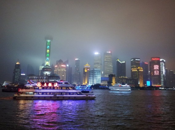 Shanghai by night Bund and Pudong (2)