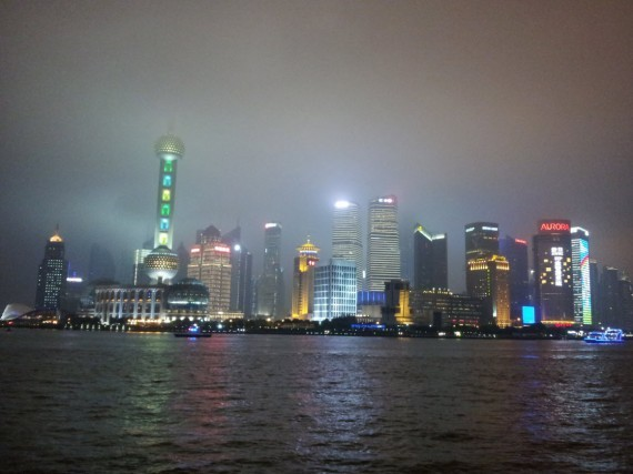 Shanghai by night Bund and Pudong (1)