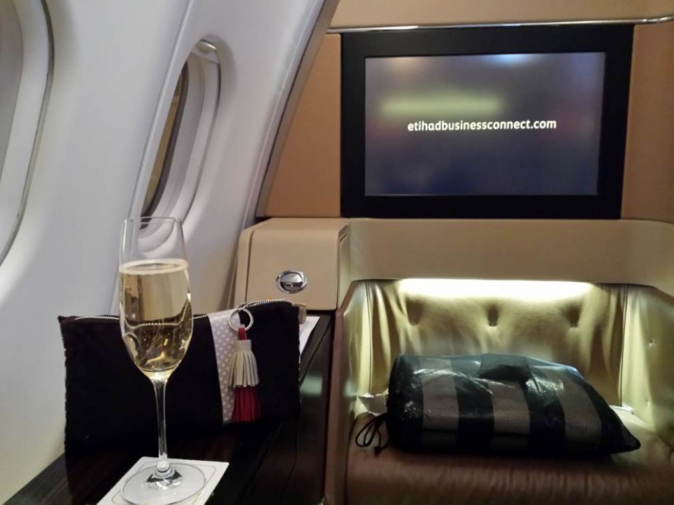 Etihad Airways First Class (Genève-Abu Dhabi)